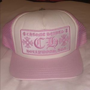 Chrome hearts pink hat